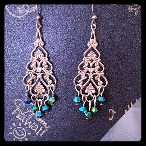 NWT chandelier drop crystal dangle earrings